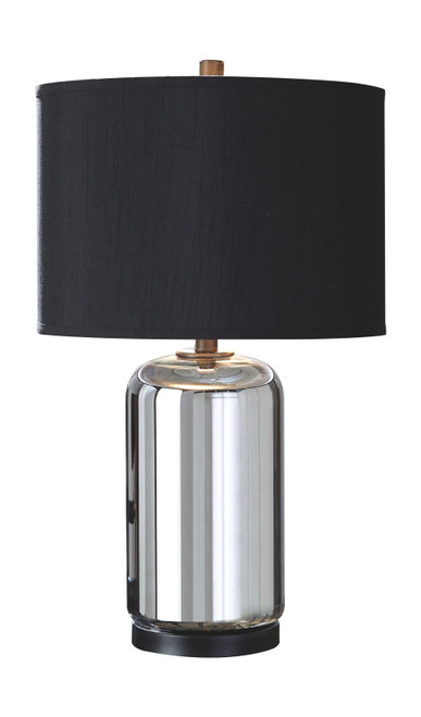 Marinda Silver Finish Glass Table Lamp