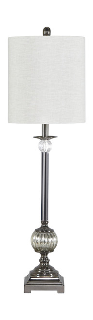 Mabli Gunmetal Finish Metal Table Lamp (1/CN)