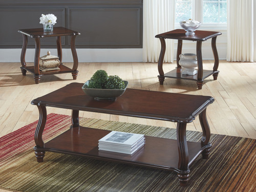 Carshaw Dark Brown Occasional Table Set (3/CN)