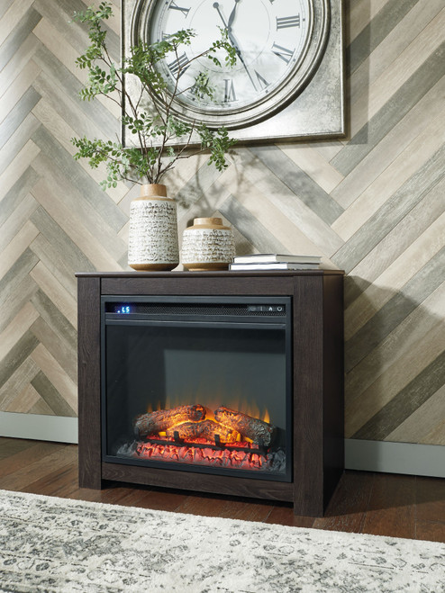 Harlinton Black Fireplace Mantel w/FRPL Insert