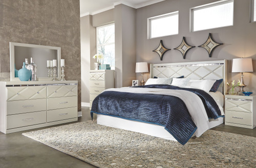 Dreamur King Panel Headboard with Bolt on Metal Frame