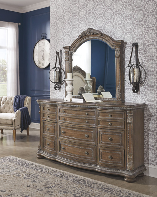 Charmond Brown Dresser & Mirror