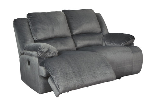 Clonmel Charcoal Reclining Power Loveseat