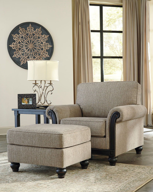 Blackwood Taupe Chair with Ottoman
