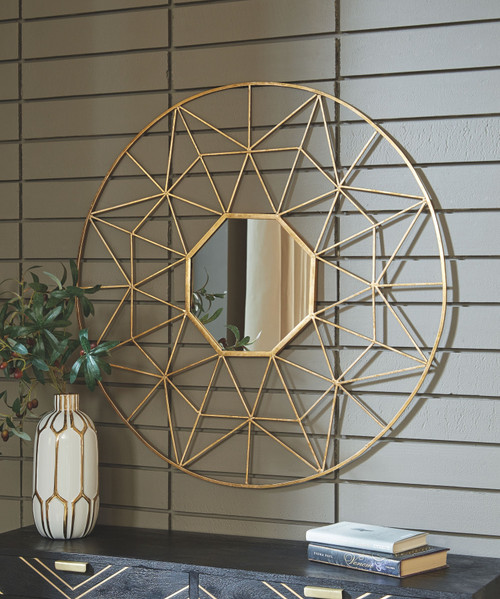 Bulana Gold Finish Accent Mirror