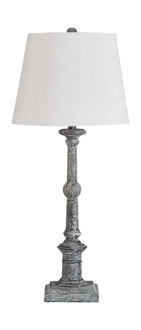 Zimba Antique Gray Wood Table Lamp (2/CN)