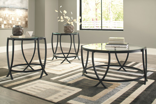 Tarrin Black Occasional Table Set (3/CN)