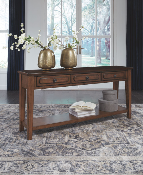 Adinton Reddish Brown Sofa Table