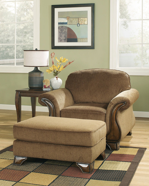 Montgomery Mocha Chair with Ottoman