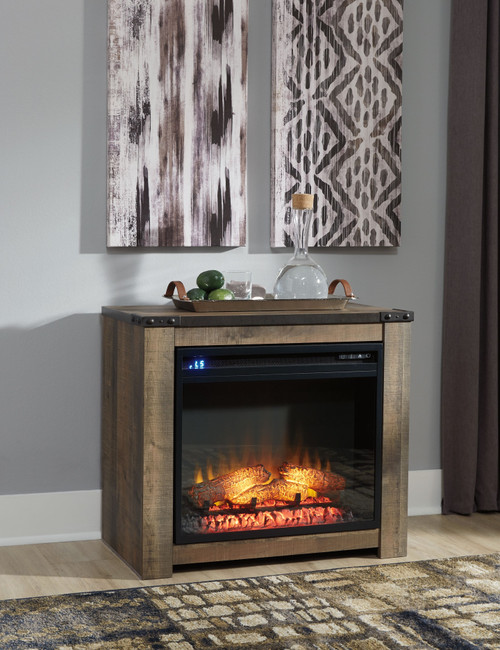 Trinell Brown Fireplace Mantel w/FRPL Insert
