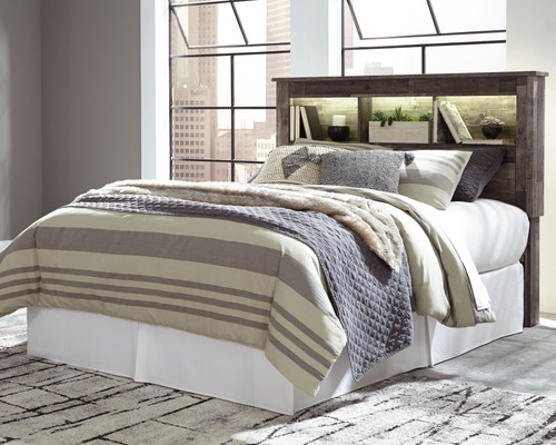 Derekson Multi Gray Queen/Full Bookcase Headboard