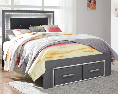 Lodanna Gray Full Panel Bed with Storage