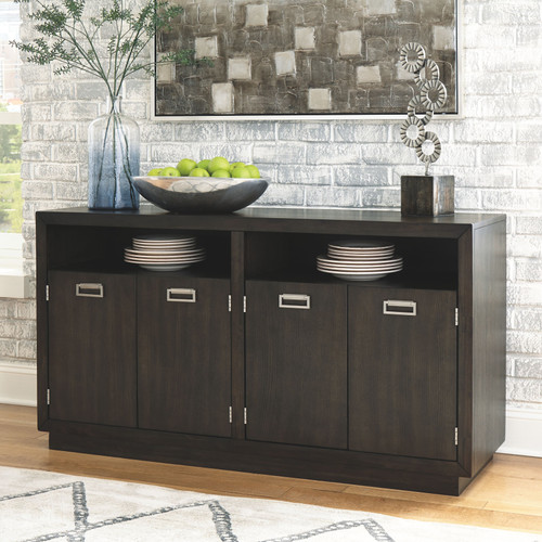 Hyndell Dark Brown Dining Room Server