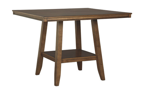Glennox Warm Brown Square Counter Table