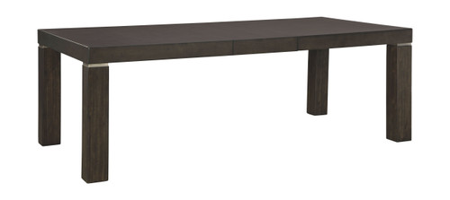Hyndell Dark Brown Rectangular Dining Room Extension Table