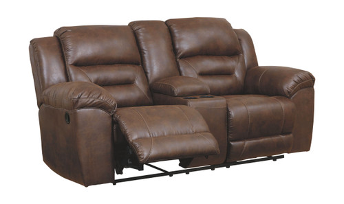 Stoneland Chocolate Double Rec Loveseat w/Console