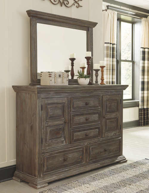 Wyndahl Rustic Brown Dresser & Mirror