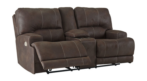 Kitching Java Power Reclining Loveseat/CON/ADJ HDRST