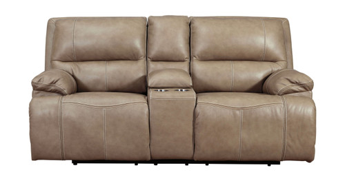 Ricmen Putty Power Reclining Loveseat/CON/ADJ HDRST