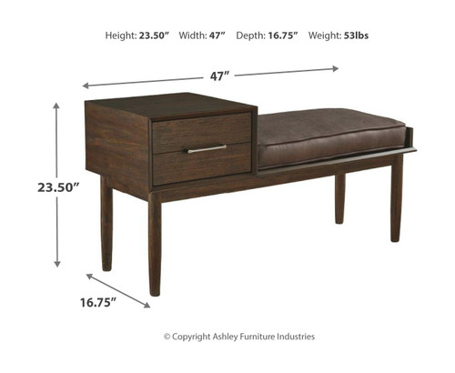 Gavinville Brown Accent Bench