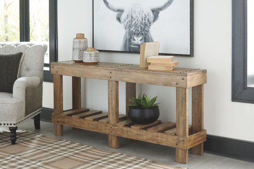 Susandeer Brown Console Sofa/Couch Table