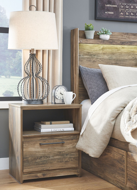 Rusthaven Brown One Drawer Night Stand