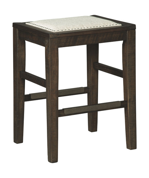 Hallishaw Dark Brown Upholstered Stool (1/CN)