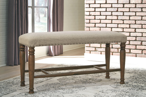 Lettner Gray/Brown Extra Large Upholstered DRM Bench