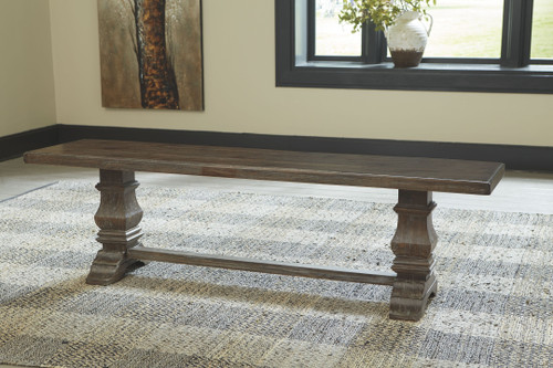 Wyndahl Rustic Brown Dining Room Bench