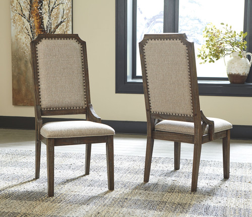 Wyndahl Rustic Brown Dining Upholstered Side Chair