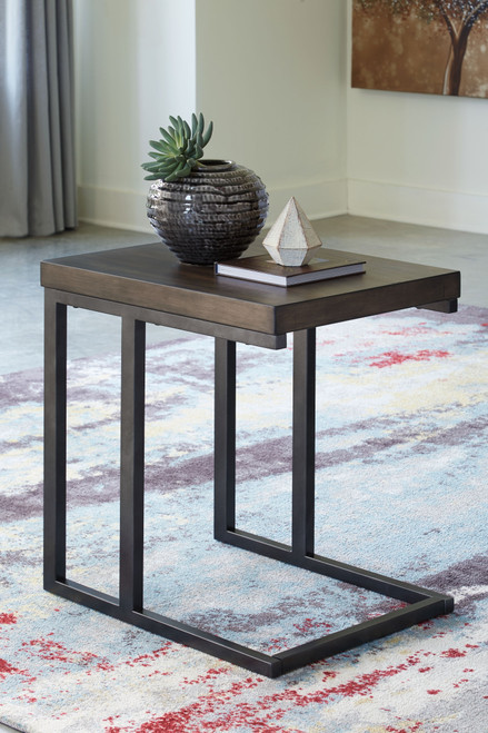 Johurst Grayish Brown/Black Chair Side End Table