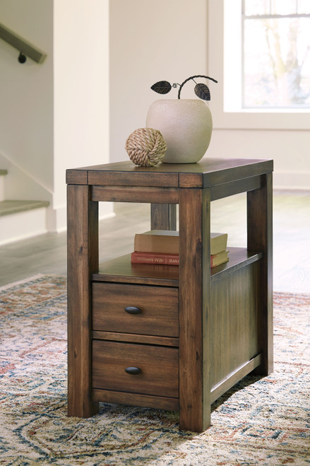 Marleza Brown Chair Side End Table