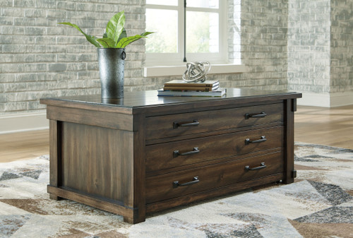 Lakeleigh Brown Rect Lift Top Cocktail Table