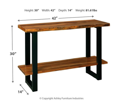 Brosward Two-tone Sofa/Couch Table