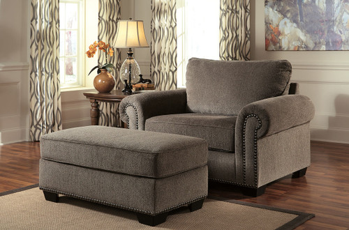 Emelen Chair and a Half with Ottoman