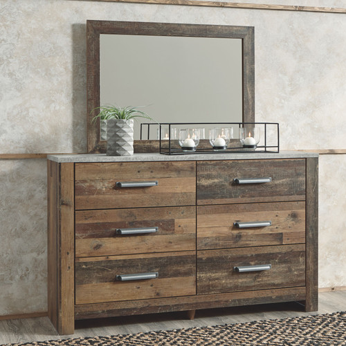 Chadbrook Brown Dresser & Mirror