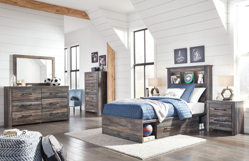 Drystan Multi Twin Bookcase Bed with Storage