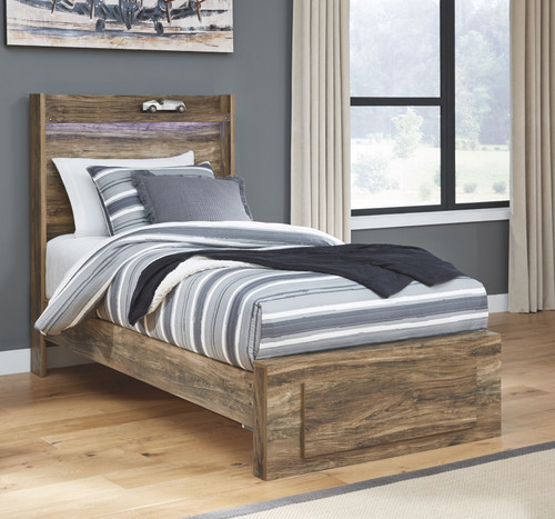 Rusthaven Brown Twin Storage Bed