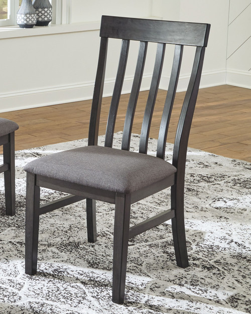 Luvoni White/Dark Charcoal Gray 5 Pc. Rectangular DRM Table & 4 Upholstered Side Chairs