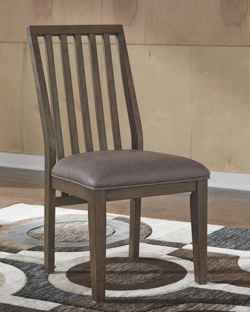 Kisper Brown 7 Pc. Rectangular DRM Table & 6 Side Chairs