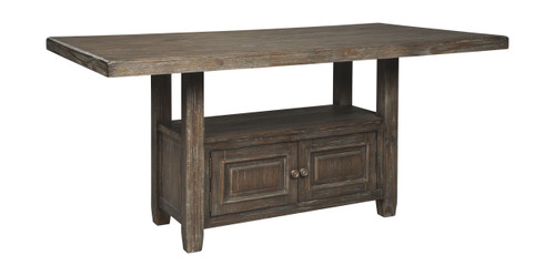 Wyndahl Rustic Brown Rectangular Counter Table w/Storage