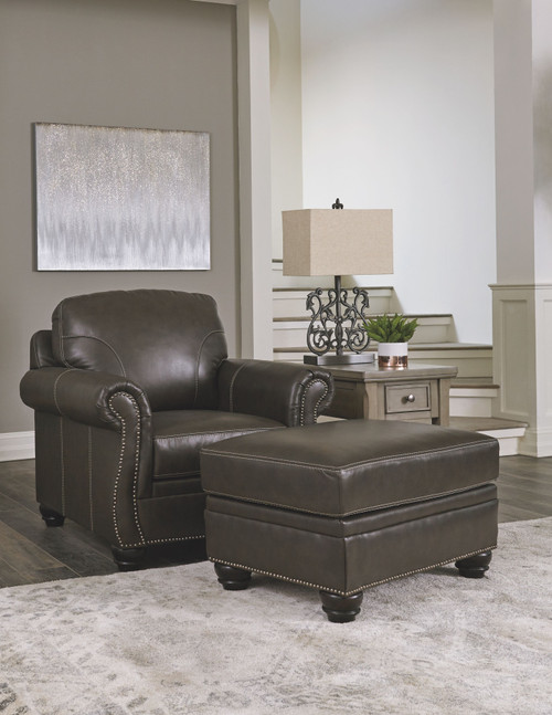 Lawthorn Slate Chair with Ottoman
