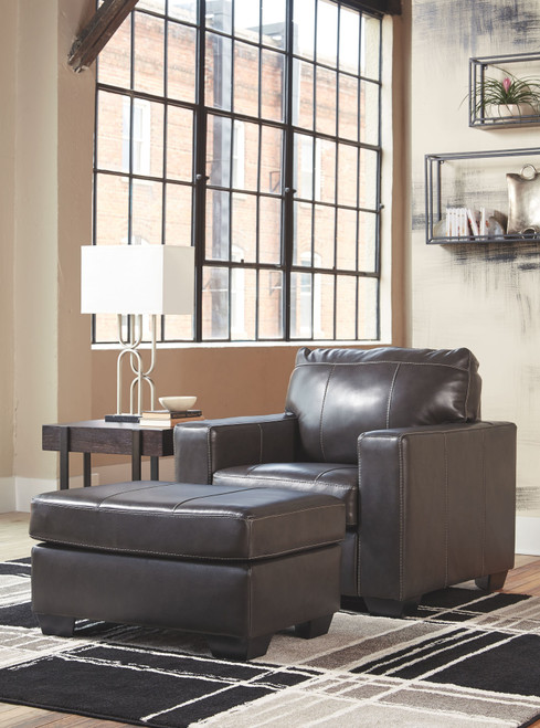 Morelos Gray Chair with Ottoman