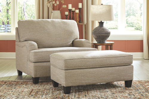 Almanza Wheat Chair and a Half with Ottoman