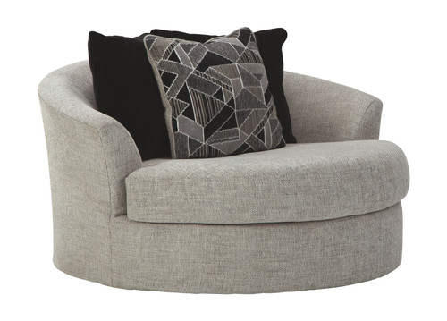 Megginson Storm Oversized Round Swivel Chair