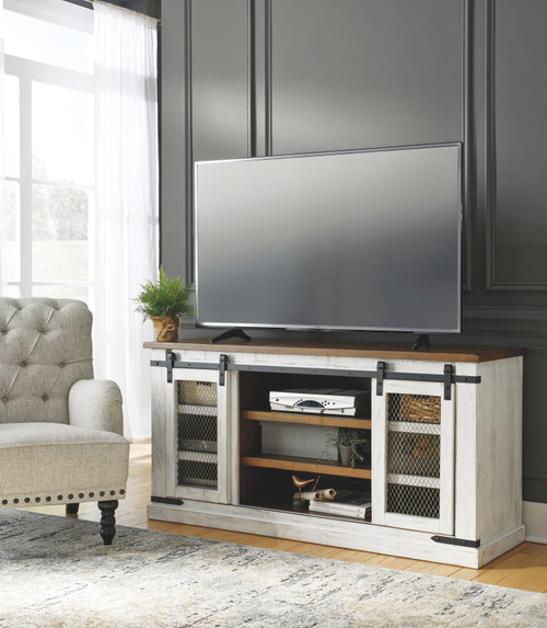 Wystfield White/Brown Large TV Stand
