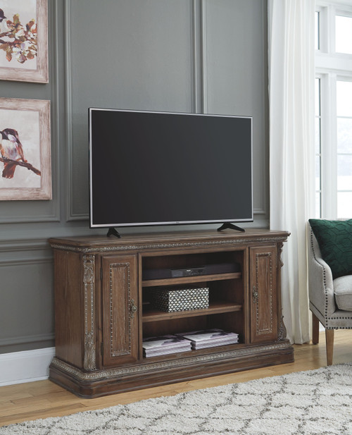 Charmond Brown LG TV Stand w/Fireplace Option