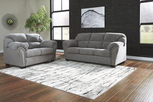 Allmaxx Pewter Sofa/Couch & Loveseat