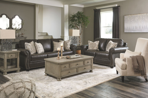 Lawthorn Slate Sofa/Couch, Loveseat, Paseo Accent Chair, Lettner Cocktail Table, 2 End Tables & Sofa/Couch Table