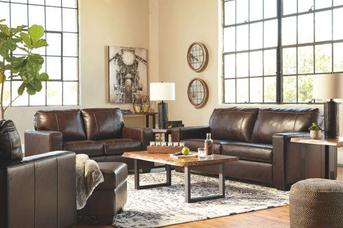 Morelos Chocolate Sofa/Couch, Loveseat, Chair, Ottoman, Brosward Cocktail Table, 2 End Tables & Sofa/Couch Table